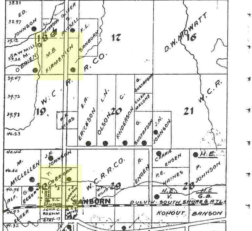 1898 Ashland County Plat Map