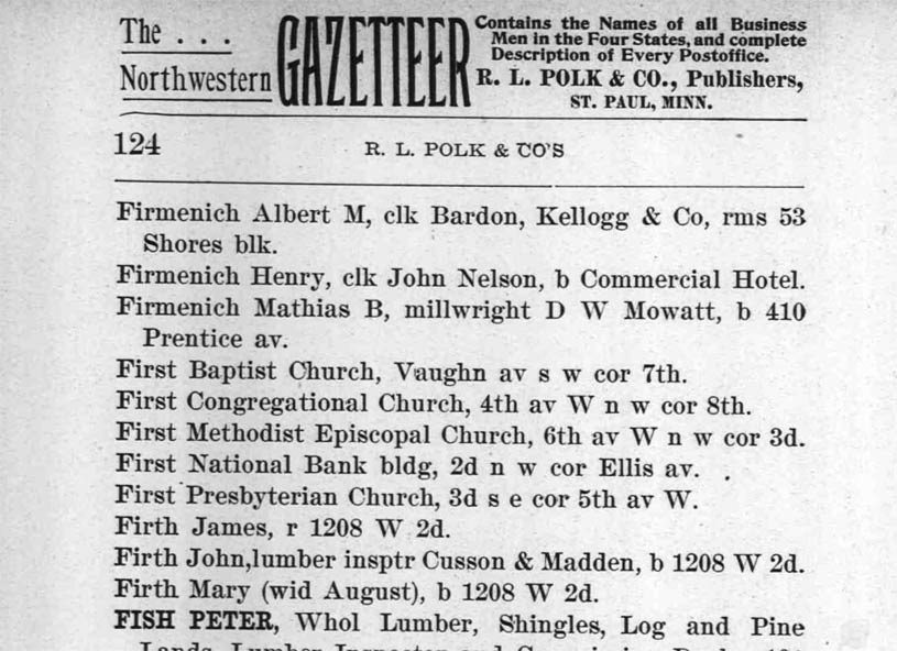 1899 Ashland City Directory