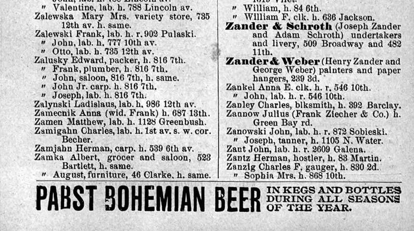 1894 Milwaukee City Directory