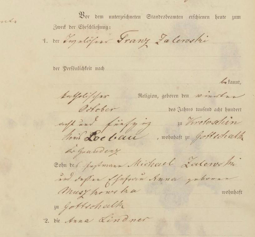 Civil Marriage Record