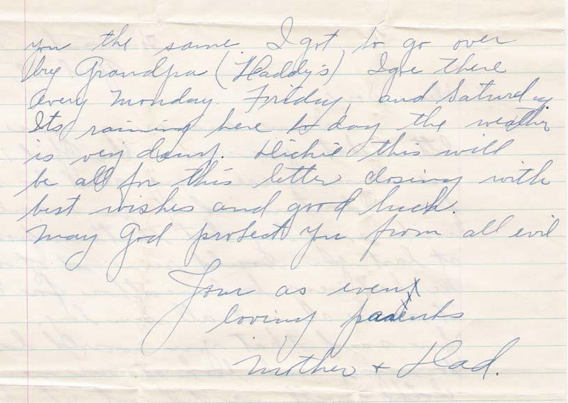 Letter to Richard Zalewski