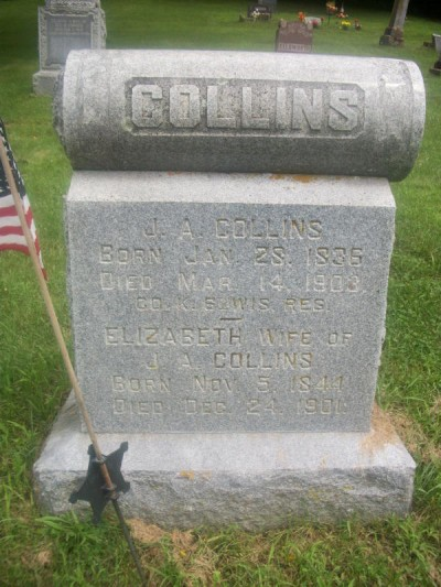 James Collins headstone