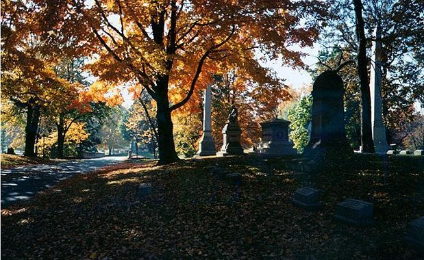 Forest Home Cemetery, Milwaukee, Wisconsin - one of my favorite cemeteries and one of the most beautiful especially in the fall.
