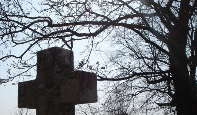 St. Mary's Cemetery, Port Washington, Ozaukee, Wisconsin - another early spring shot